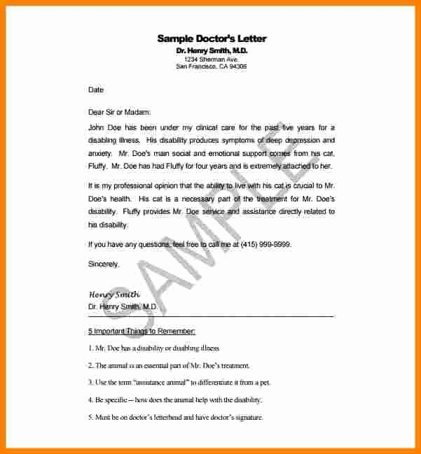 Sample Disability Letter From Physician Elegant 7 Disability Letter From Doctor