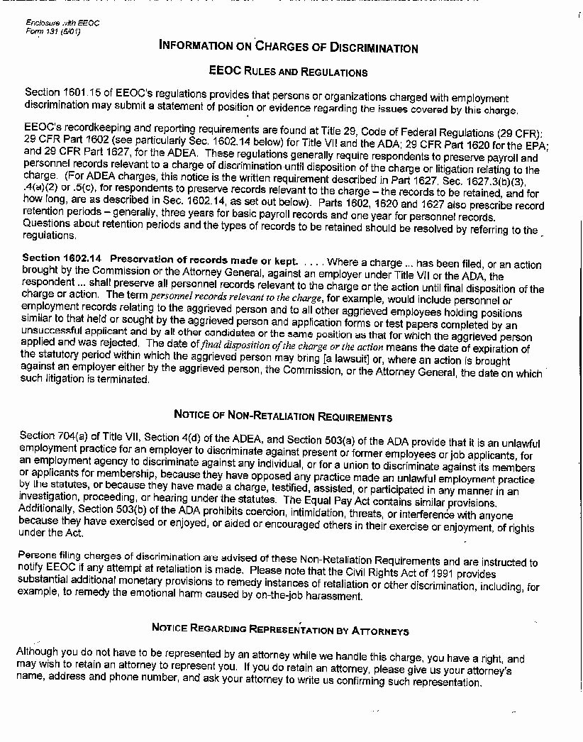 Sample Discrimination Complaint Letter Beautiful Edgar Filing Documents for 09
