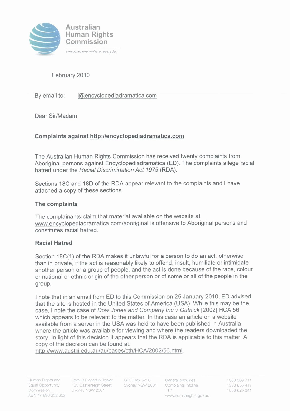 Sample Discrimination Complaint Letter Best Of Australia Human Rights Mission Threatens Joseph Evers