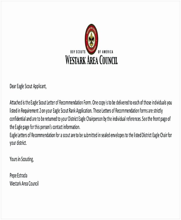 Sample Eagle Scout Recommendation Letter Beautiful Eagle Scout Letter Of Re Mendation Sample From Parents
