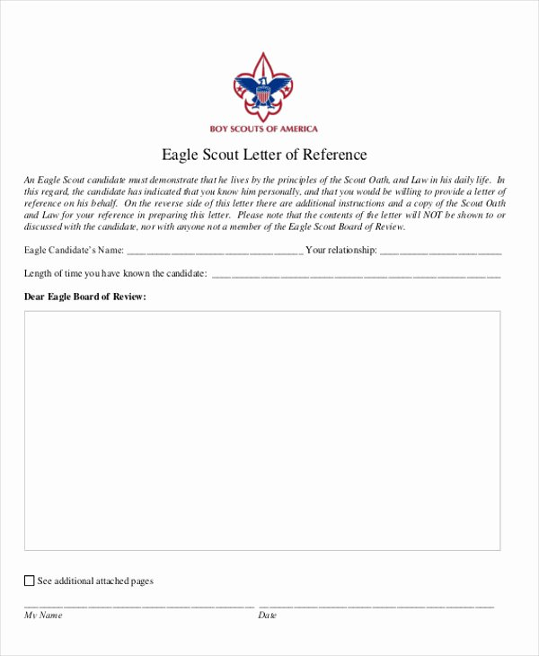 Sample Eagle Scout Recommendation Letter Elegant 12 Sample Eagle Scout Re Mendation Letter Templates