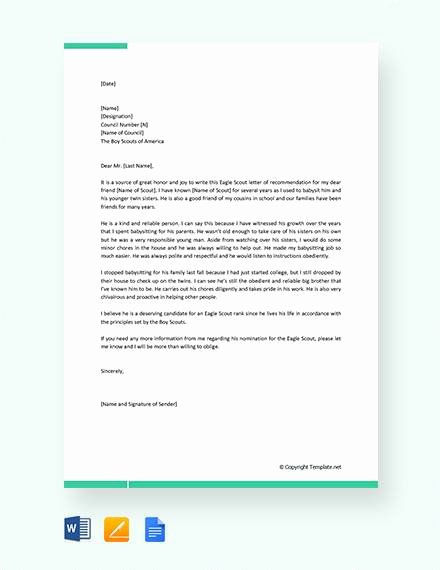 Sample Eagle Scout Recommendation Letter Luxury 12 Sample Eagle Scout Re Mendation Letter Templates