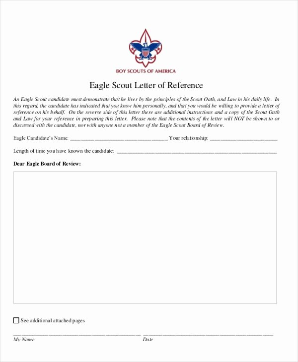 Sample Eagle Scout Recommendation Letter Luxury Eagle Scout Letter Re Mendation