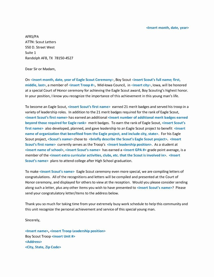 Sample Eagle Scout Recommendation Letter Unique 11 Best Eagle Scout Letters Of Re Mendation Images On