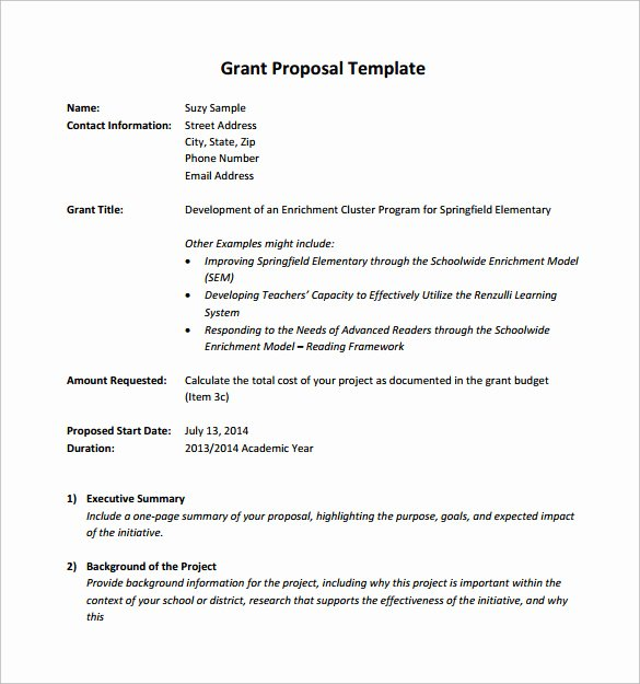 Sample Education Grant Proposal Best Of 11 Sample Grant Proposals Word Pdf Pages