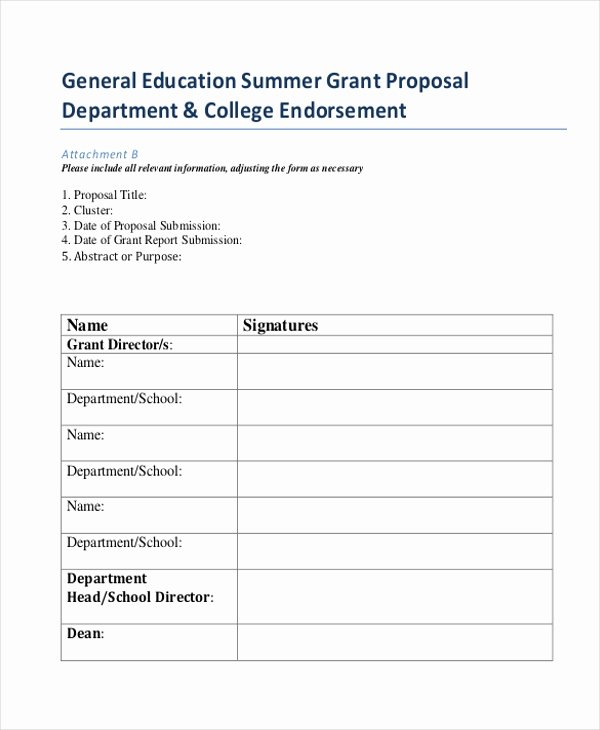 Sample Education Grant Proposal Best Of Grant Proposal form Sample 8 Free Documents In Doc Pdf