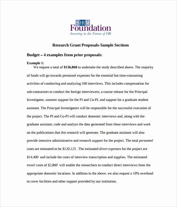Sample Education Grant Proposal Elegant Free 17 Sample Grant Proposal Templates In Word Pdf