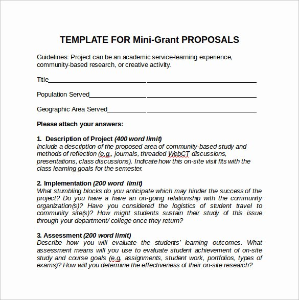grant proposal template example
