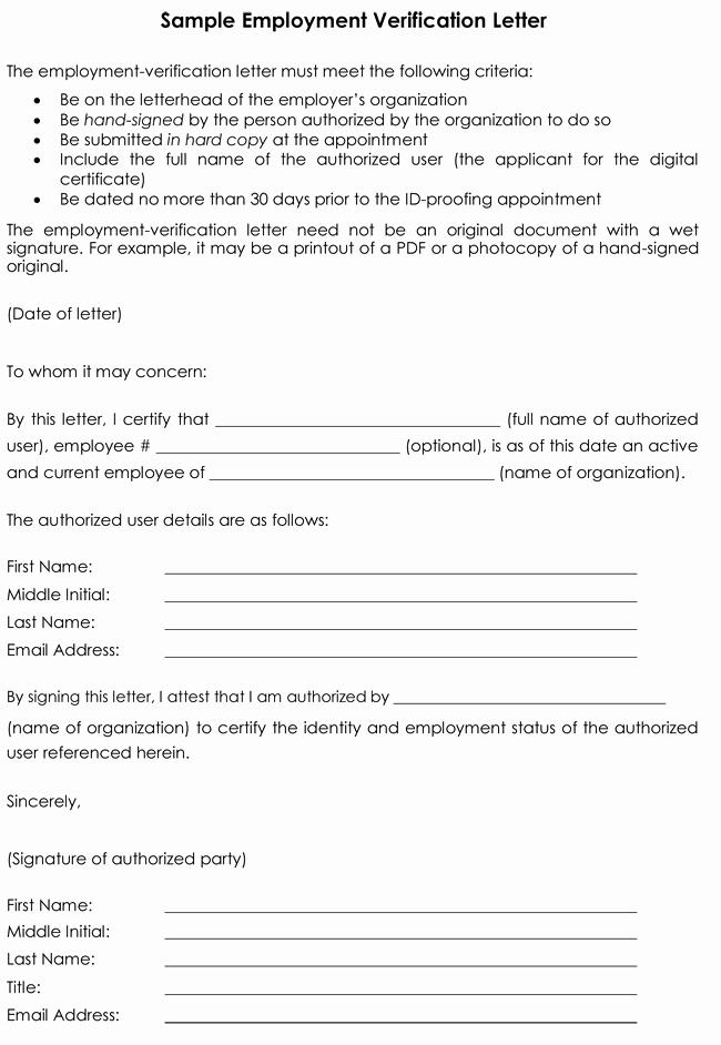 Sample Employee Verification Letter Best Of Employment Verification Letter 8 Samples to Choose From