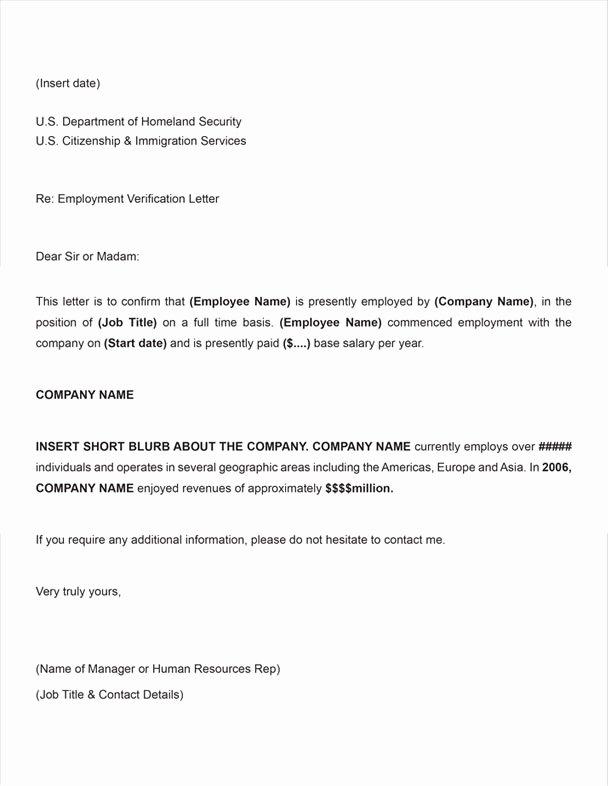 Sample Employee Verification Letter Best Of Free Printable Letter Employment Verification form