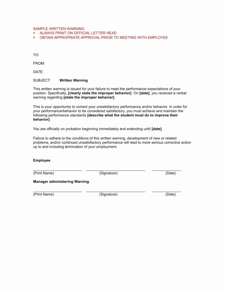 Sample Employee Warning Letter Best Of 5 Mon Reasons for Writing An Employee Warning Letter
