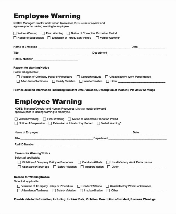 Sample Employee Warning Letter Lovely 10 Employee Warning Notice Samples Google Docs Ms Word