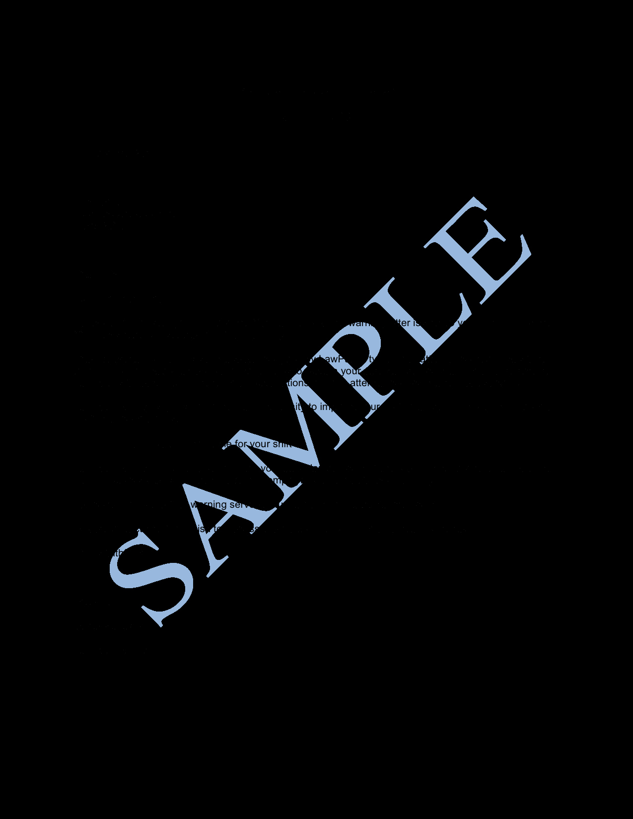 Sample Employee Warning Letter Luxury Final Warning Letter Sample Lawpath