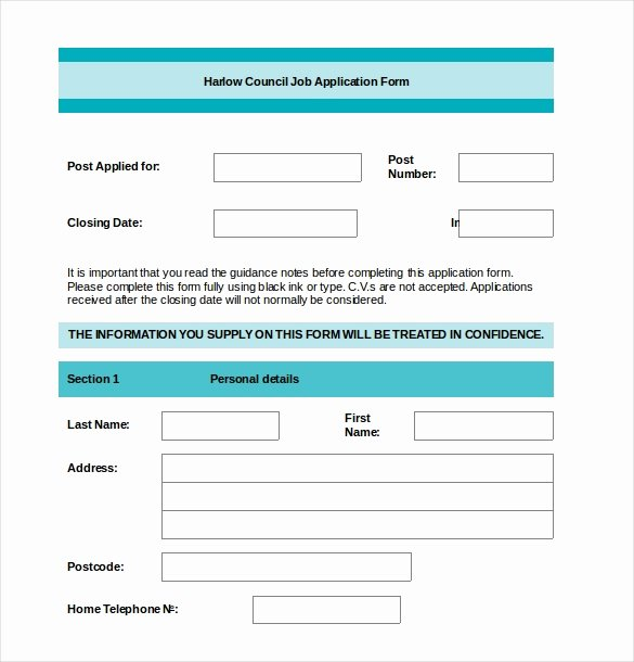 Sample Employment Application Word Best Of Employment Application Templates – 10 Free Word Pdf