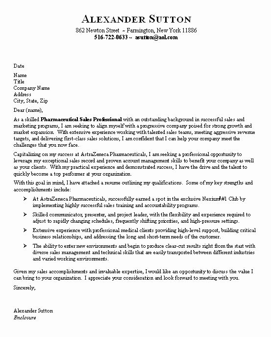 Sample Entry Level Cover Letters Unique Sample Cover Letter for Entry Level Sales Position