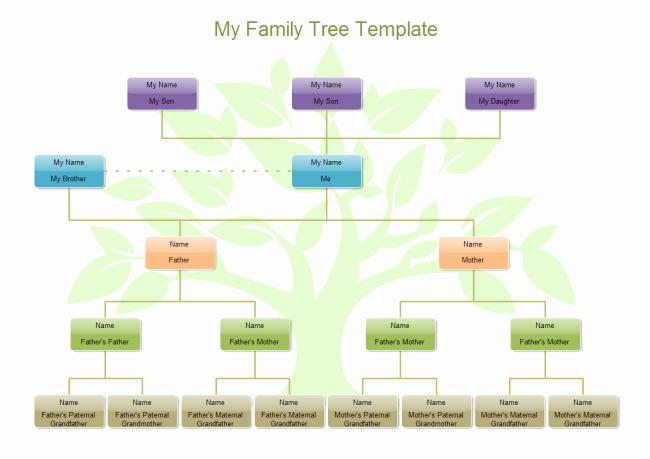 Sample Family Tree Chart Beautiful My Family Tree