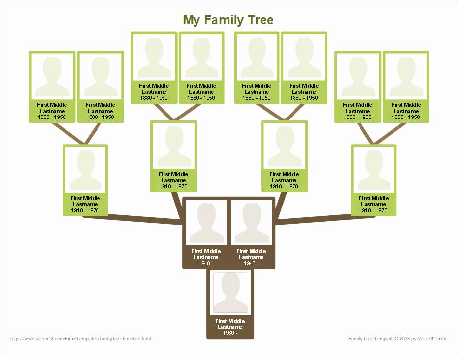Sample Family Tree Chart Elegant Free Family Tree Template