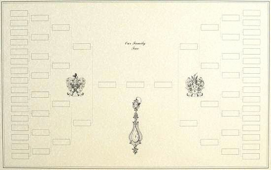 Sample Family Tree Chart Fresh Blank Family Tree Example Chart with Decorative Artwork