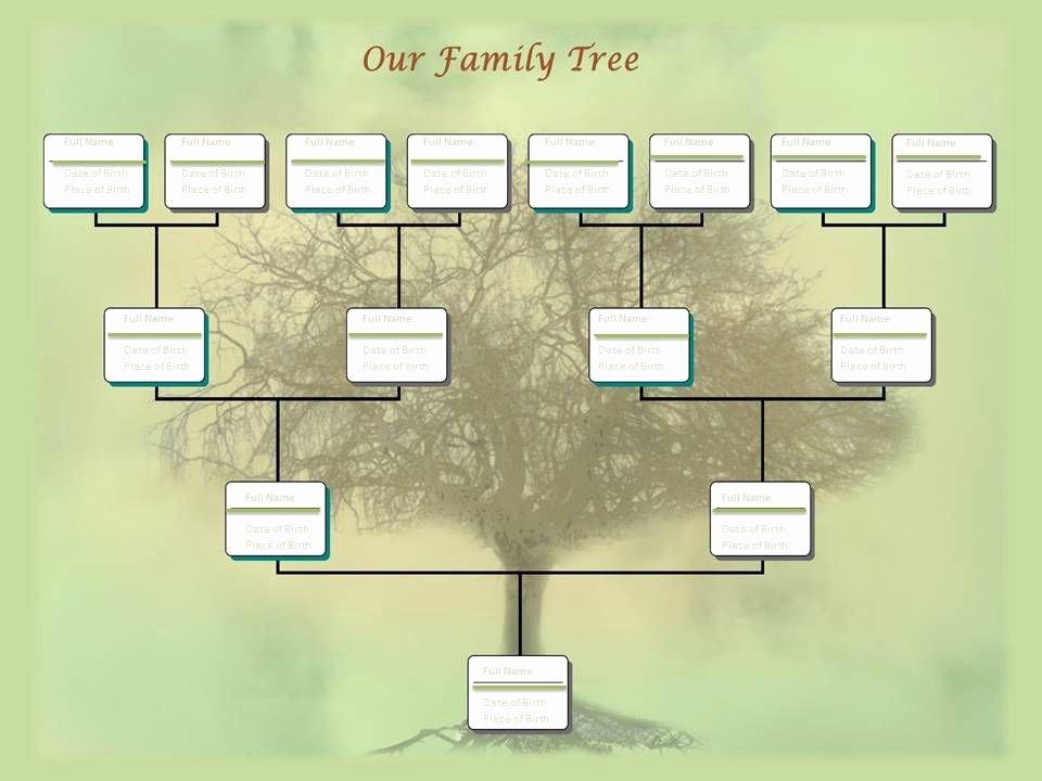 Sample Family Tree Chart Fresh Editable Family Tree Template