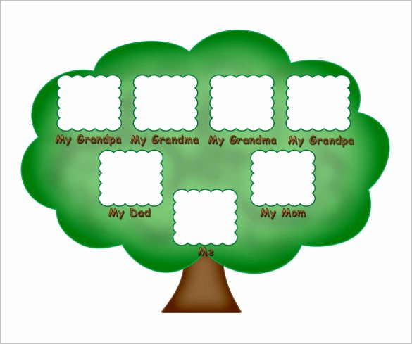 Sample Family Tree Chart Inspirational Kids Family Tree Template – 10 Free Sample Example
