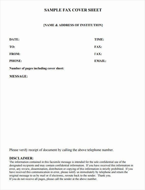 Sample Fax Cover Sheets Best Of Fax Cover Sheet Template 6 Free Download In Word Pdf