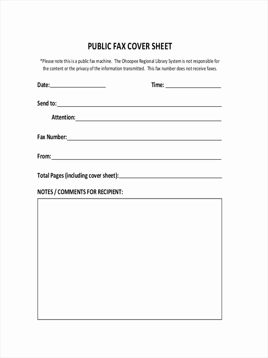 Sample Fax Cover Sheets Fresh Free 11 Fax Cover Sheet Examples & Samples In Pdf