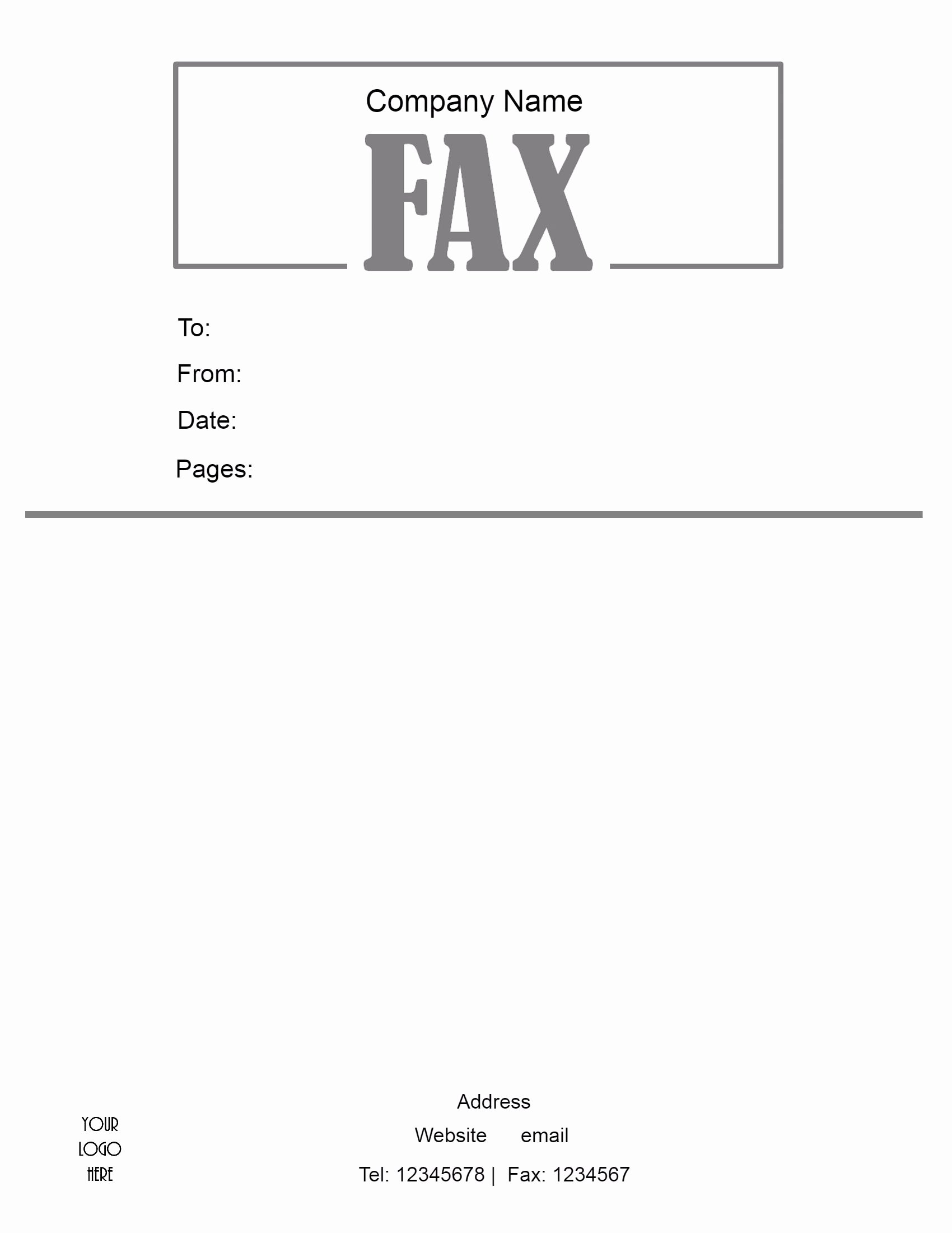Sample Fax Cover Sheets Unique Free Fax Cover Sheet Template