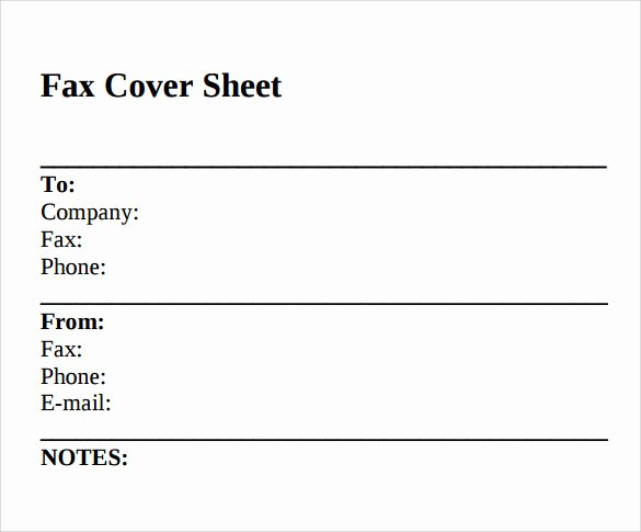 Sample Fax Cover Sheets Unique Sample Standard Fax Cover Sheet – 11 Documents In Word Pdf
