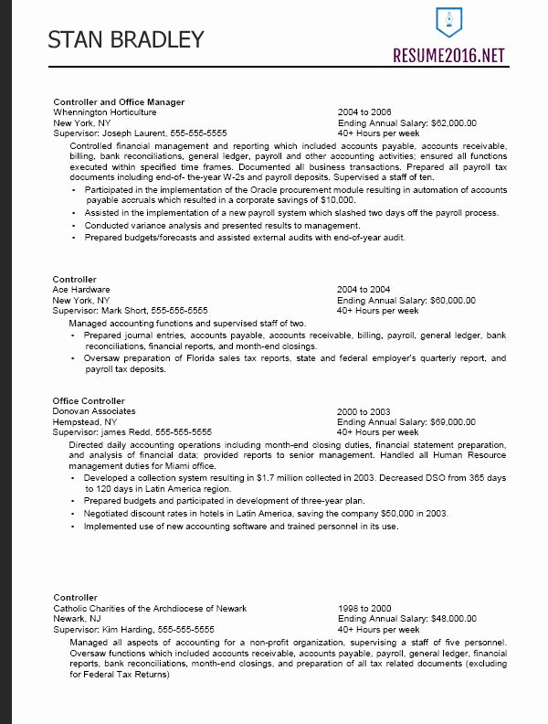 Sample Federal Government Resume New Federal Resume format 2016 How to A Job