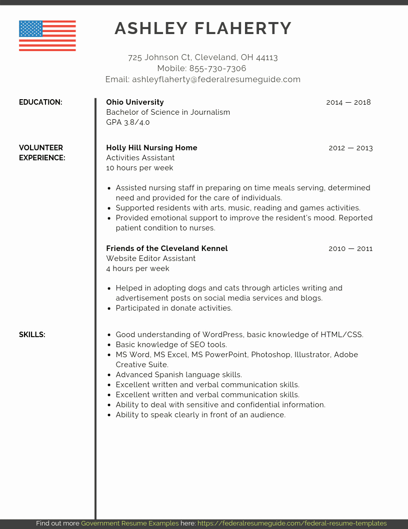 Sample Federal Government Resume Unique Entry Level Federal Resume Samples [pdf Ms Word]