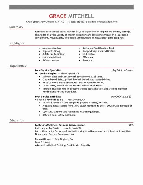 Sample Food Service Resume Lovely 15 Amazing Customer Service Resume Examples