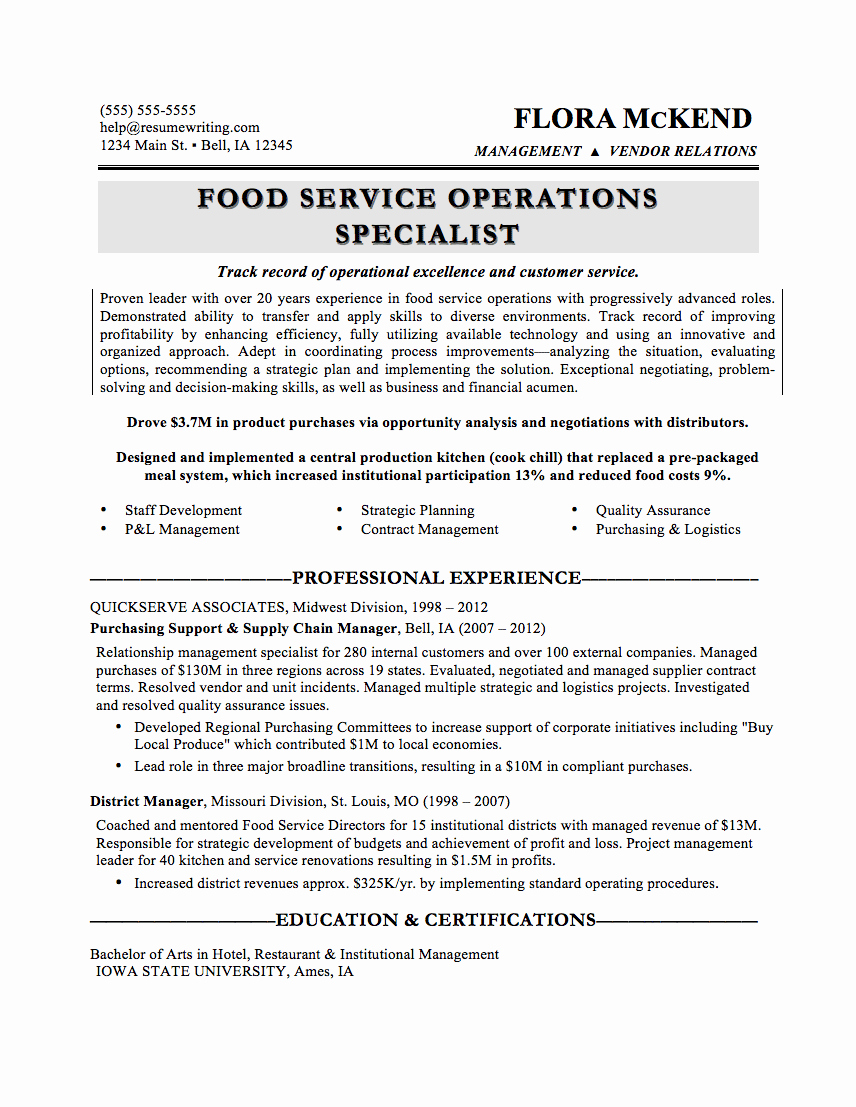 Sample Food Service Resume Luxury What Your Resume Should Look Like