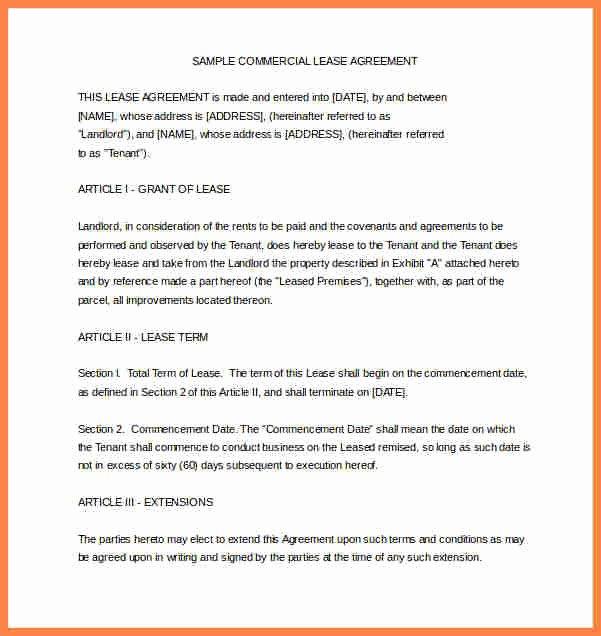 Sample forms In Word Elegant 6 Sample House Rental Agreement Word format