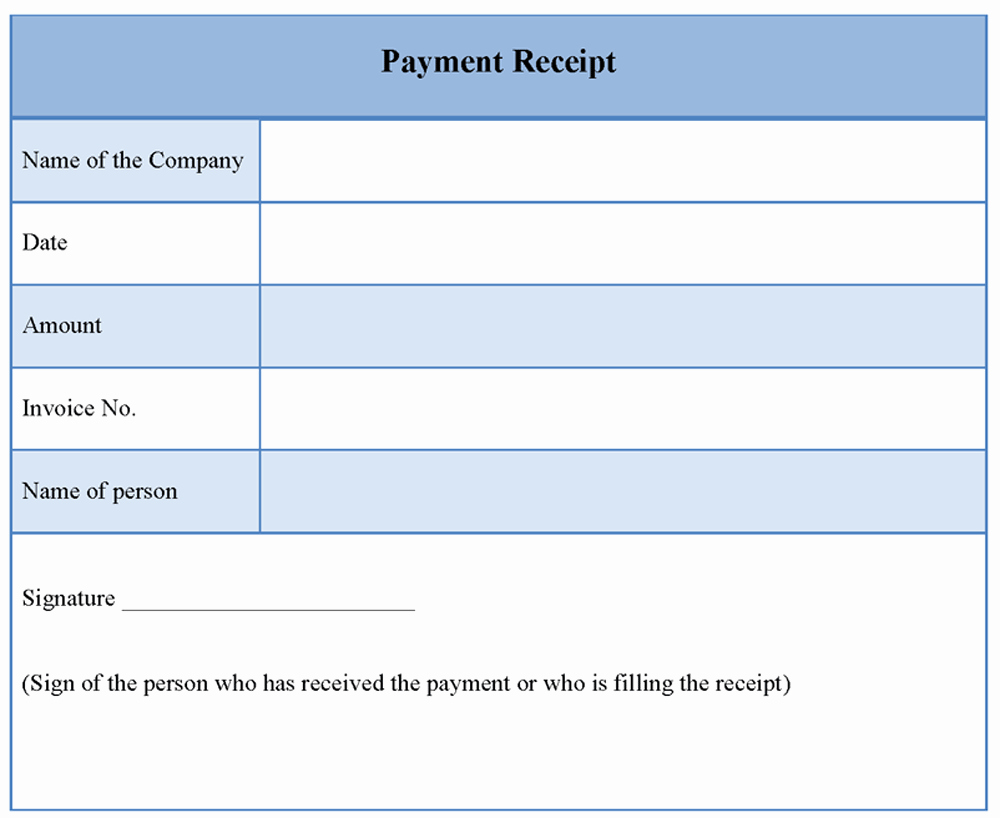 Sample forms In Word New Receipt Payment Template Word