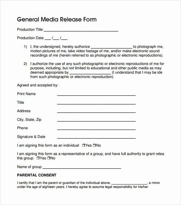 Sample General Release form Beautiful General Release form 7 Free Samples Examples & formats