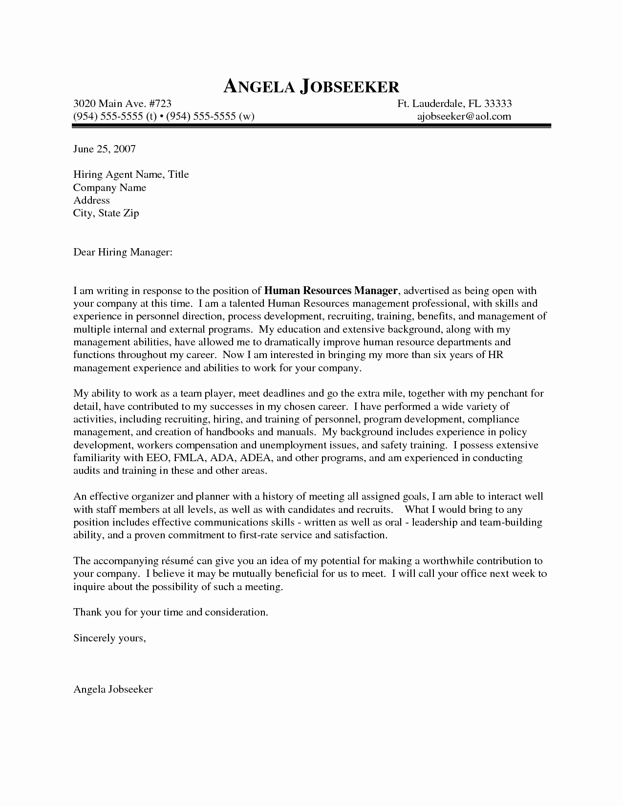 Sample Hr Cover Letter Elegant Outstanding Cover Letter Examples