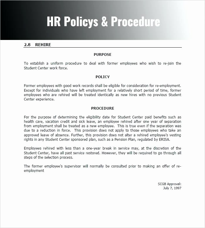 Sample Human Resource Policies Awesome Best Ideas for Hr Policy Template format Sample
