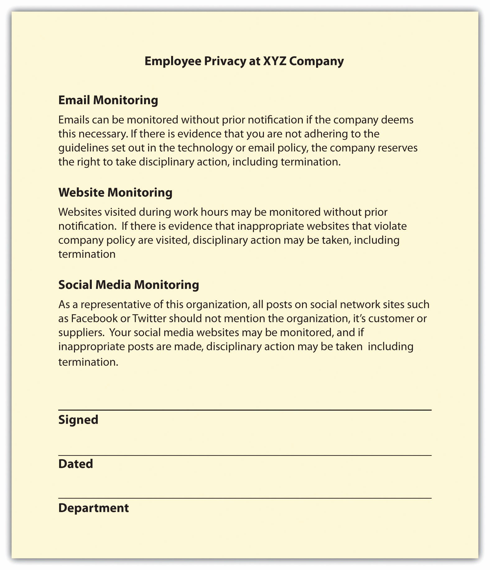 Sample Human Resources Policies Beautiful Employee Rights