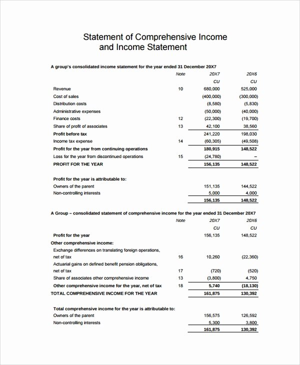 Sample Income Statement format Inspirational Sample In E Statement 23 Documents In Pdf Word Excel
