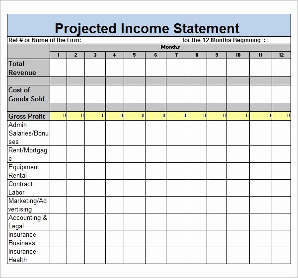 Sample Income Statement format Luxury Sample In E Statement Template 9 Free Documents In