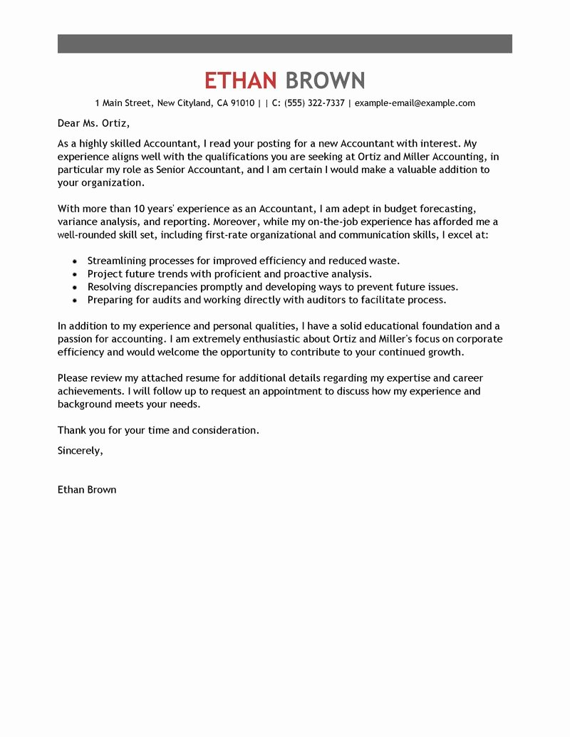 Sample Intern Cover Letters Lovely Accounting Internship Cover Letter Sample