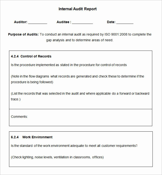 Sample Internal Audit Report Awesome 37 Brilliant Audit Report format Examples Thogati