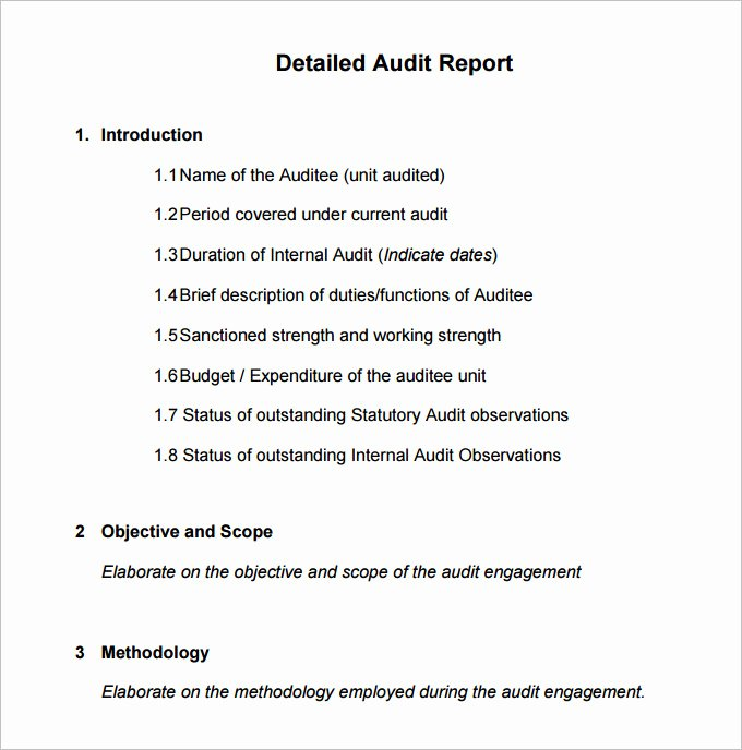 Sample Internal Audit Report Fresh 20 Internal Audit Report Templates Word Pdf Apple