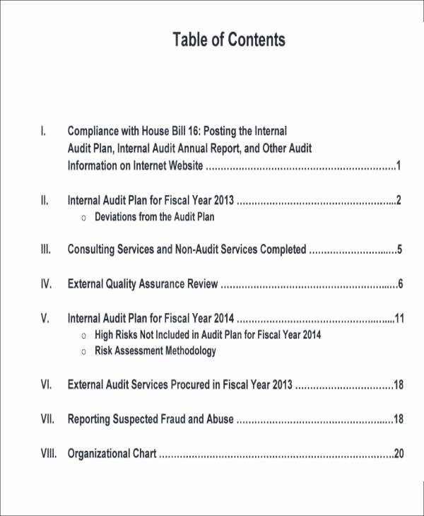 Sample Internal Audit Report Lovely 15 Sample Internal Audit Reports Word Pdf Pages