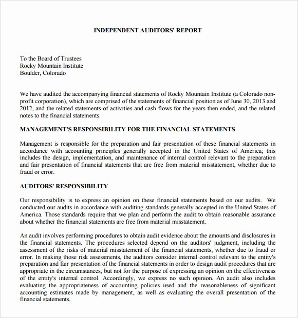 Sample Internal Audit Report Lovely Sample Audit Report 16 Documents In Pdf Word