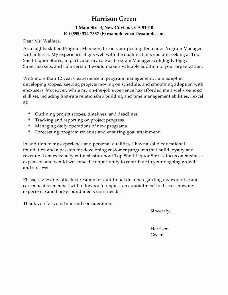 Sample Job Cover Letter Elegant Free Cover Letter Examples for Every Job Search