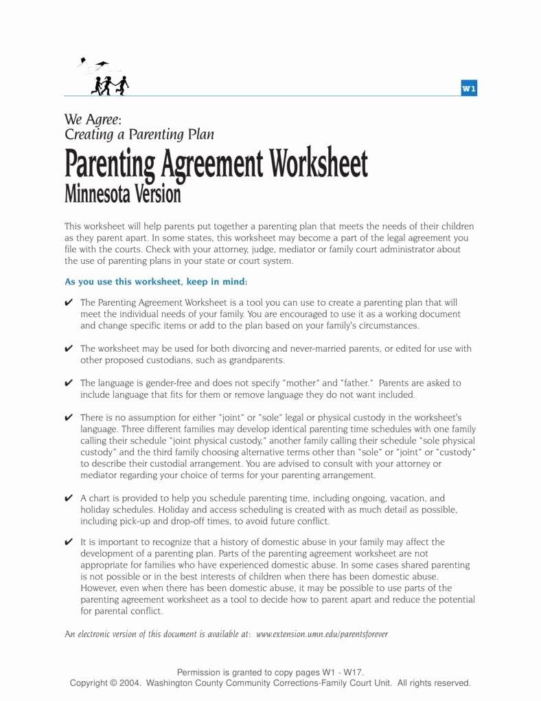 Sample Joint Custody Agreements Elegant How to Enforce A Custody Agreement Pdf