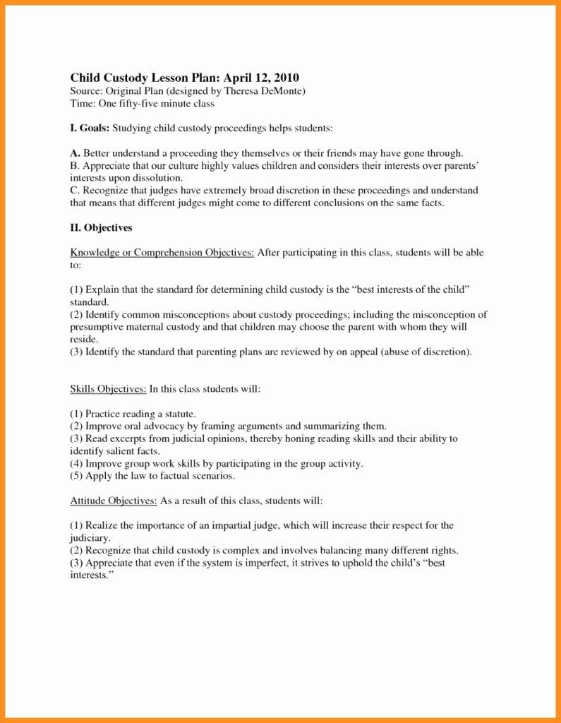 Sample Joint Custody Agreements Luxury Child Custody Agreement Examples Quick 45 Best Gallery