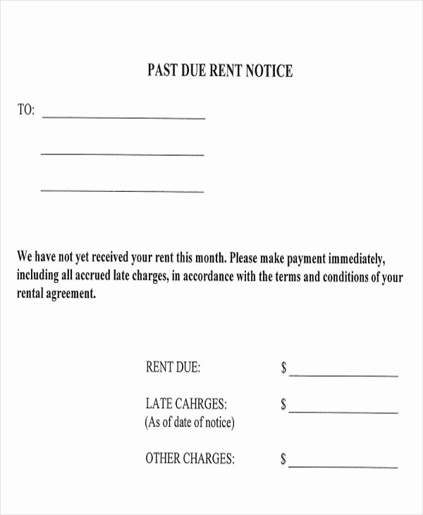 Sample Late Rent Notice Fresh 11 Late Payment Letter Templates Word Google Docs
