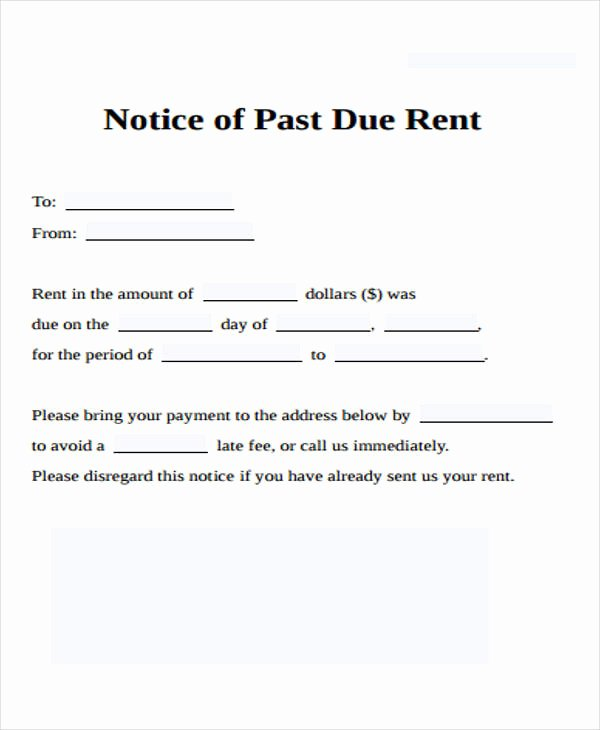 Sample Late Rent Notice Lovely 39 Free Notice forms
